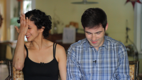 18 takes! Martin and Anita shooting their video pitch for IndieGoGo