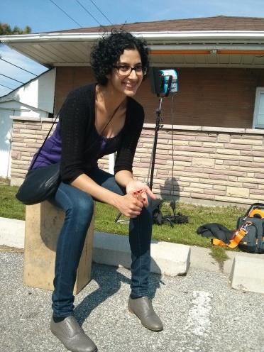 Anita, co-director, on location