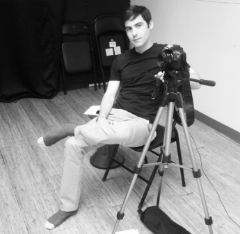 Auditions, Day #1. Martin takes a break.