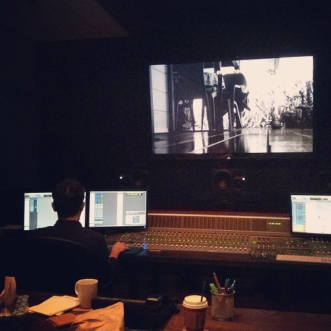 """Matthew Cerantola in the studio watching playback on """"The Talent Scout"""""""